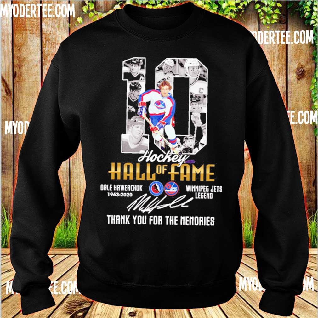 10 Hockey Hall of Fame Dale hawerchuk 1963 2020 Winnipeg jets legend signature s sweater