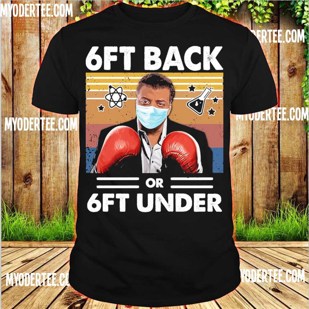 Neil Degrasse Tyson Caricature boxing face mask 6ft back or 6ft under vintage shirt