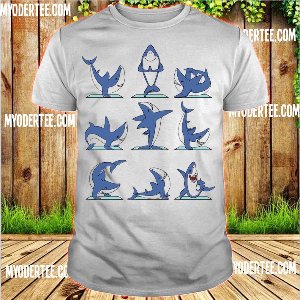 Shark yoga shirt