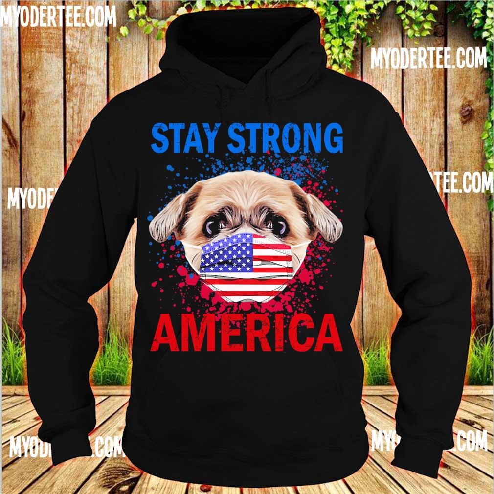 Shih Tzu face mark stay strong america s hoodie