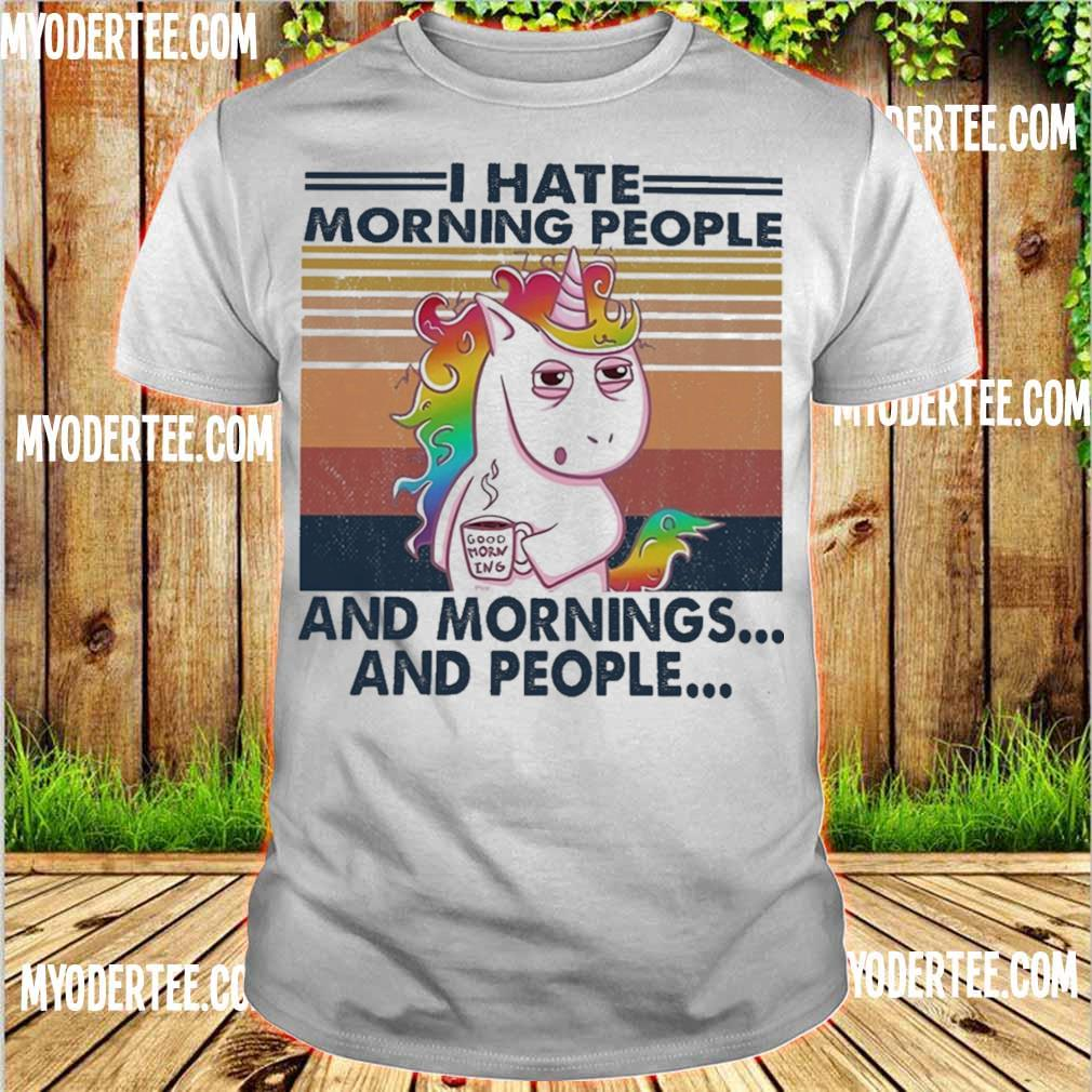 Unicorn I hate morning people and mprnings and people vintage shirt