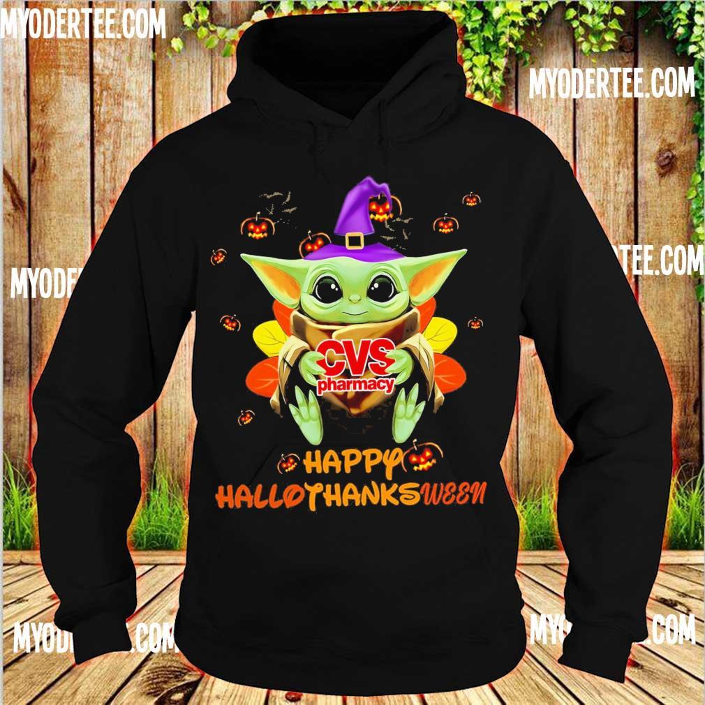 Baby Yoda Witch hug CVS Pharmacy Happy Hallothanksween s hoodie