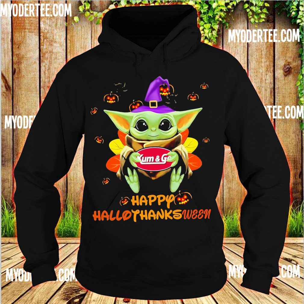 Baby Yoda Witch hug Kum & Go Happy Hallothanksween s hoodie