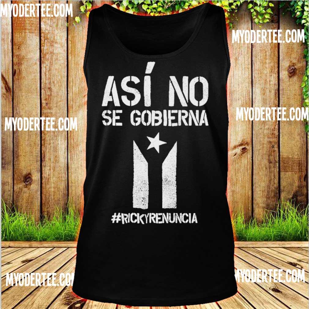 #rickyrenunciaricky Renuncia Bandera Negra Puerto Rico Flag Shirt tank top