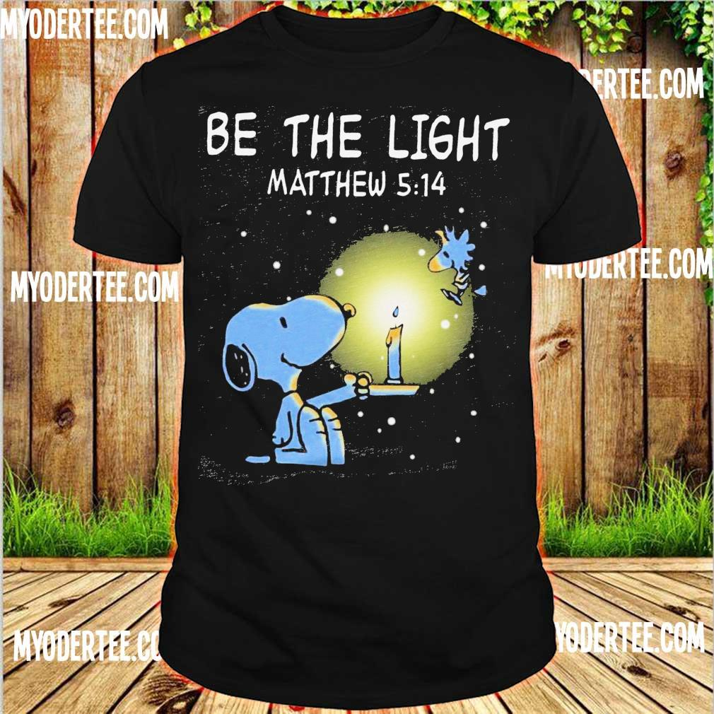Snoopy and Woodstock be the light Matthew 5 14 shirt