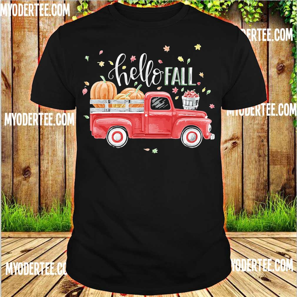 Truck Pumpkin Hello Fall shirt