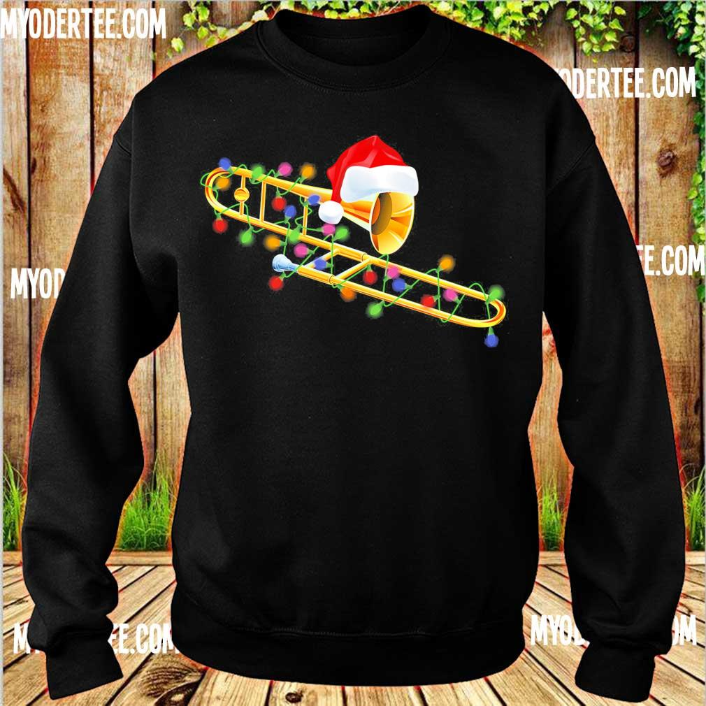 Trumpet Santa light Christmas s sweater