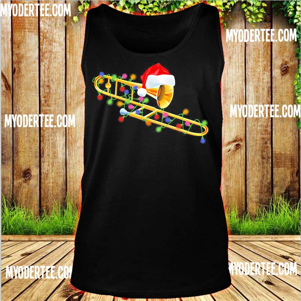 Trumpet Santa light Christmas s tank top