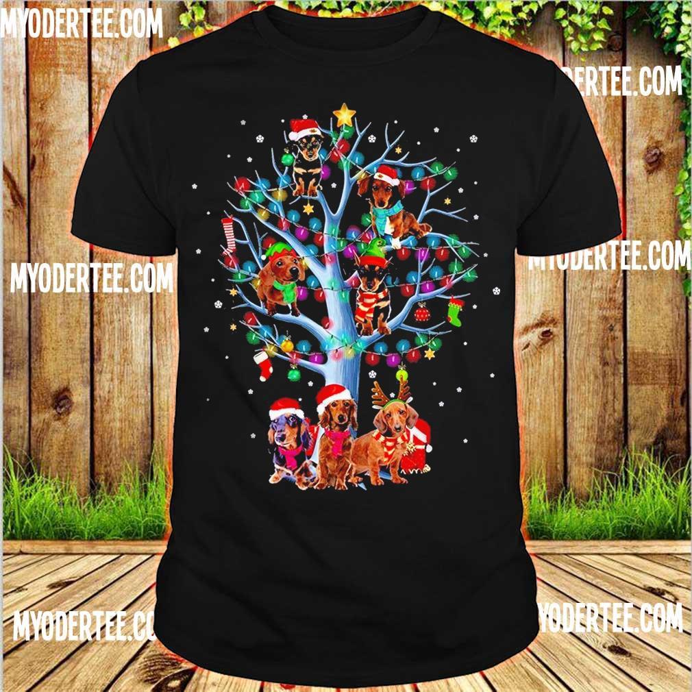 Official Santa Dachshund light Christmas shirt