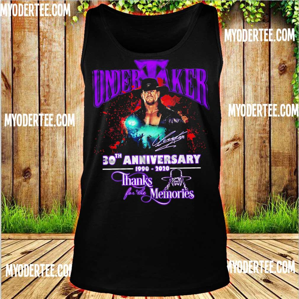 Official Undertaker 30TH Anniversary 1990 2020 thanks for the memories s tank top
