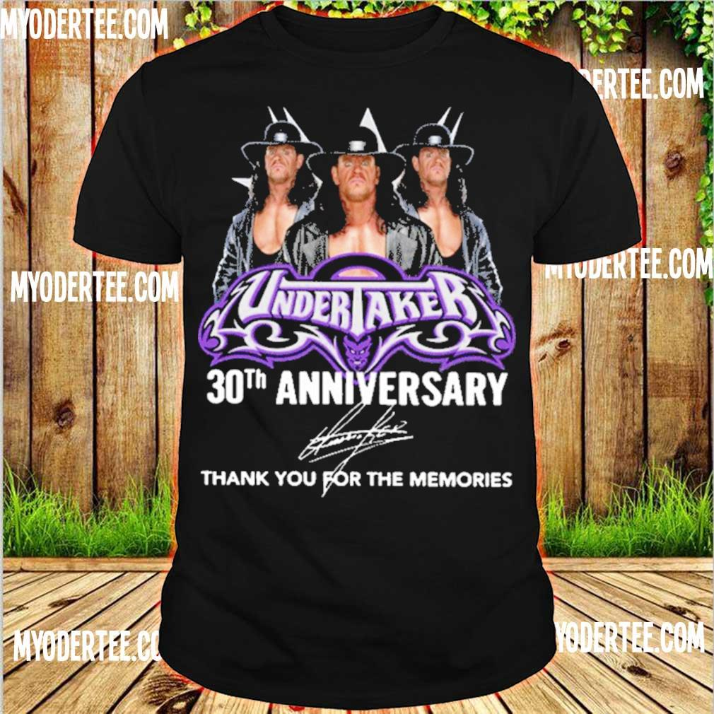 Official Undertaker 30th Anniversary Thank You For The Memories Shirt
